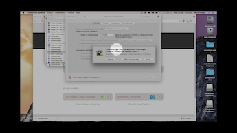 image d'un tutoriel video sur l'installation de cap-renov+ sur mac-osx